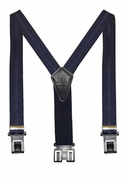 "1-3/8"" Navy Club Stripe Original Perry Suspenders - 48"""