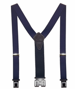 "1-3/8""XL Navy Checkers Original Perry Suspenders-54"""