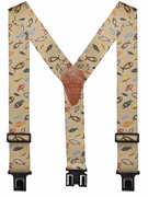 "2"" Christian Fish Perry Suspenders - 48"""
