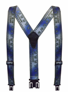 "2"" Metallic Blue Yardtape Original Perry Suspenders - 48"