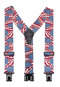 "2"" US Flag Original Perry Suspenders - 48"""