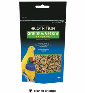 8in1 Ecotrition Grains & Greens for Canary & Finch 8 oz.