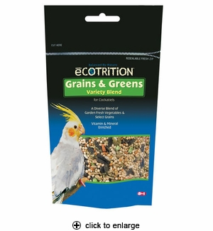 8in1 Ecotrition Grains & Greens for Cockatiels 6.5 oz.