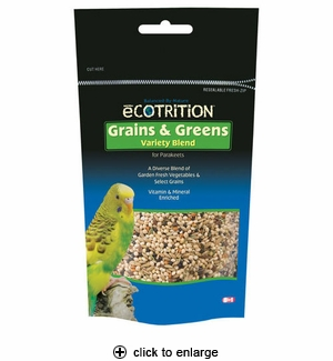 8in1 Ecotrition Grains & Greens for Parakeets 8 oz.
