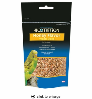 8in1 Ecotrition Honey Flavor Variety Blend for Parakeets 8 oz.