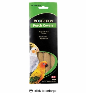 8in1 Ecotrition Perch Covers for Large Birds 4pk