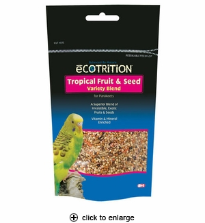 8in1 Ecotrition Tropical Fruit & Seed for Parakeets 8 oz.