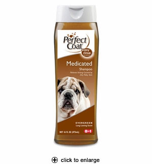 8in1 Perfect Coat Medicated Shampoo 16oz