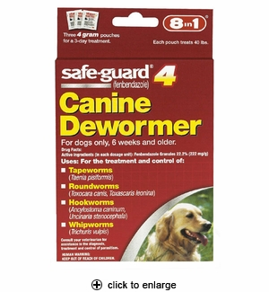 8in1 Safe-Guard Canine Dewormer for Large Dogs 3ct