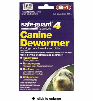 8in1 Safe-Guard Canine Dewormer for Medium Dogs 3ct