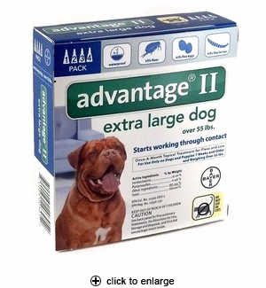 Advantage II Flea Control for Extra Large Dogs Over 55 lbs, 4pk