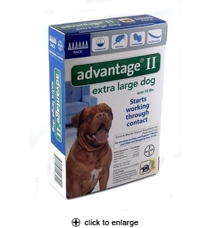 Advantage II Flea Control for Extra Large Dogs Over 55 lbs, 6pk