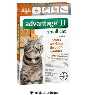 Advantage II Flea Control for Small Cats 5-9 lbs, 6pk