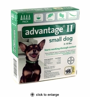 Advantage II Flea Control for Small Dogs 3-10 lbs, 4pk