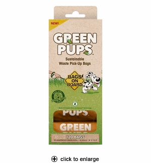 Bags on Board Green Pups Waste Pick-Up Refill Bags 120ct