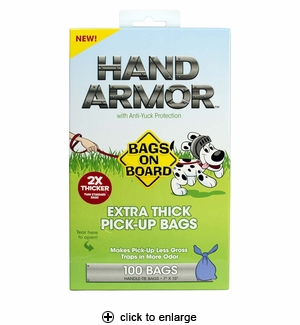 Bags on Board Hand Armor Extra Thick Pick-Up Bags 100ct