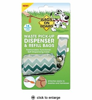 Bags on Board Waste Pick-Up Dispenser & Refill Bags 14ct