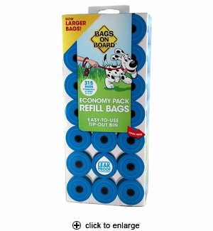 Bags on Board Waste Pick-up Refill Bags Economy Pack 315ct