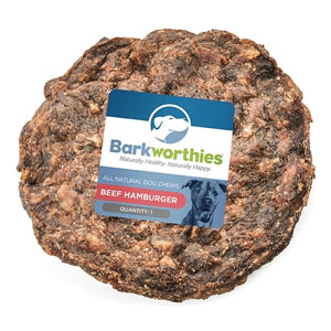 Barkworthies Beef Hamburger Dog Treat