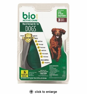 Bio Spot Active Care Flea & Tick Spot On for Dogs 31-60# 3pk