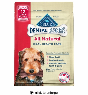 Blue Buffalo Dental Bone Dog Chews Regular 12pk