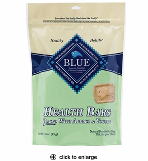 Blue Buffalo Health Bars Apples & Yogurt Dog Biscuits 16 oz