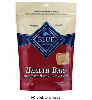 Blue Buffalo Health Bars Bacon, Egg & Cheese Dog Biscuits 16 oz