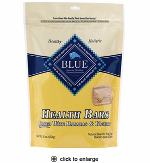 Blue Buffalo Health Bars Bananas & Yogurt Dog Biscuits 16 oz