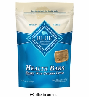 Blue Buffalo Health Bars Chicken Liver Dog Biscuits 16oz