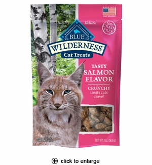 Blue Buffalo Wilderness Salmon Crunchy Cat Treats 2oz