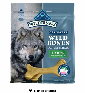 Blue Buffalo Wilderness Wild Bones Dental Dog Chews Large 10oz