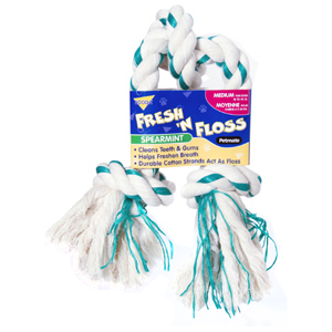 Booda Fresh N' Floss Spearmint Rope Tug Medium