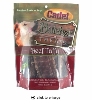 Cadet Butcher Treats Beef Taffy for Dogs 8oz