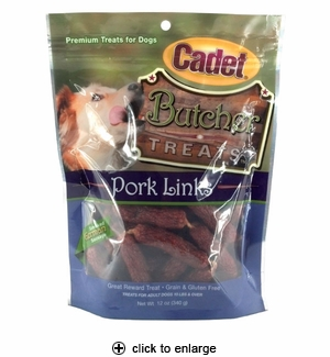 Cadet Butcher Treats Pork Links for Dogs 12oz