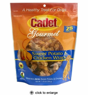 Cadet Sweet Potato & Chicken Wraps Dog Treats 28oz