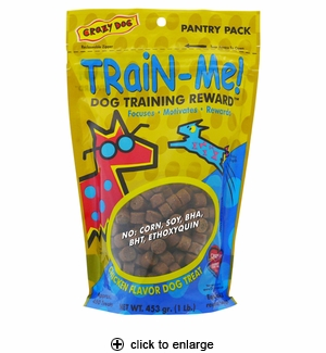 Cardinal Crazy Dog Train-Me! Training Reward Treats Chicken 1 lb