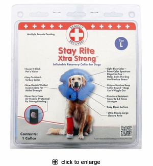 Cardinal Stay Rite Xtra Strong Inflatable Recovery Collar Large