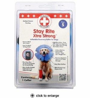 Cardinal Stay Rite Xtra Strong Inflatable Recovery Collar Small