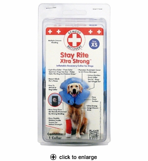 Cardinal Stay Rite Xtra Strong Inflatable Recovery Collar X-Small