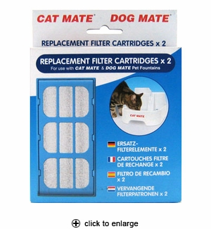 Cat/Dog Mate Pet Fountain Replacement Filter Cartridges 2pk
