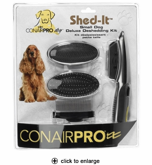 ConairPro Dog Shed-It Deluxe Deshedding Kit Small