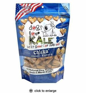 Dogs Love Kale Chicka Dog Treats 6oz