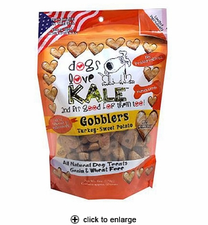 Dogs Love Kale Gobblers Dog Treats 6oz