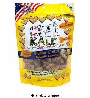 Dogs Love Kale Tropical Delight Dog Treats 6oz