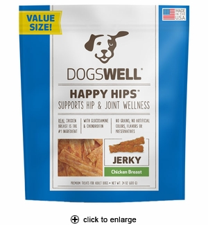 Dogswell Happy Hips Chicken Breast Jerky Dog Treat 24oz