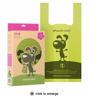 Earth Rated Poop Bags with Handle Lavender Scented 120ct