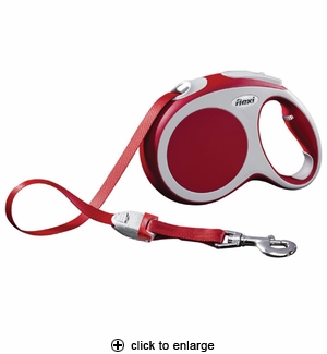 Flexi Vario MED Retractable Tape Leash 16 ft, Red