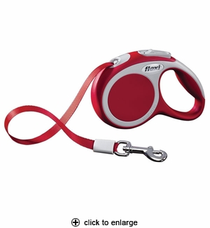 Flexi Vario XS Retractable Tape Leash 10 ft, Red