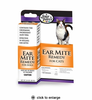 Four Paws Ear Mite Remedy For Cats 0.75 oz