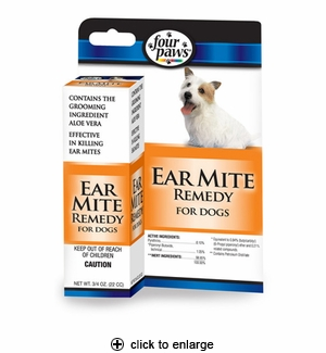 Four Paws Ear Mite Remedy For Dogs 0.75 oz